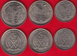 Western Sahara Set Of 3 Coins: 1 - 5 Pesetas 1992 UNC - Sahara Occidental