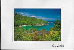 SEYCELLES - SCORCIO PANORAMICO - VIAGGIATA 2000 FRANCOBOLLO ASPORTATO - Seychelles