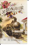 Lens-sur-Geer - Un Bonjour De Lens-sur-Geer - TRAIN - REX 1978 - Voir 2 Scans. - Oreye