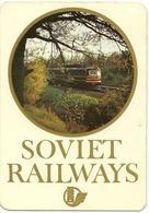 The Calendar Of The USSR - Russia - 1976 - Soviet Railways - Diesel Locomotive - Train - Nature - Advertising - Rarity - Calendars