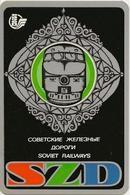 The Calendar Of The USSR - Russia - 1977 - Soviet Railways - Diesel Locomotive -  Advertising - Rarity - Calendars