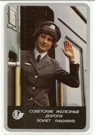The Calendar Of The USSR - Russia - 1978 - Soviet Railways - Train - Wagon - Conductor - Woman - Rarity - Plastic - Calendars