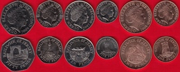 Jersey Set Of 6 Coins: 1 Penny - 50 Pence 2007-2009 UNC - Jersey