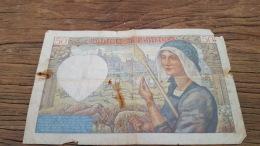 LOT 414612 BILLET DE FRANCE  50 FRANCS 1940 - 1871-1952 Circulated During XXth