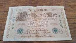 LOT 414617 BILLET D ALLEMAGNE  1000 BERLIN  1910 - Allemagne