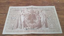 LOT 414623 BILLET D ALLEMAGNE  1000 BERLIN  1910 - Germany