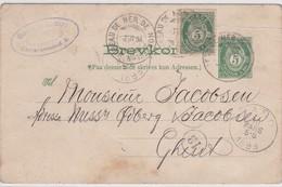 CP - T. OBL. CàD: BATEAU DE MER DE NORVEGE / 7.II.1898 - Norvège