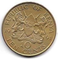 *kenia 10 Cents 1991  Km 18 - Kenya