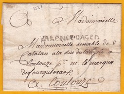 1752 - Règne De Louis XV - Marque  VALENCE D'AGEN  Sur Lettre Avec Correspondance Commerciale Vers Toulouse - Postmark Collection (Covers)