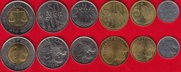 Ethiopia Set Of 6 Coins: 1 Santeem - 1 Birr UNC - Ethiopie