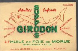 Nice (06 Alpes Maritimes) Buvard GIRODON  Suppositoires  (PPP9196) - Chemist's