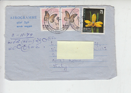 SRA-LANKA  1979 -  Yvert 463-501 - Aereogramma Per Italia - Sri Lanka (Ceylon) (1948-...)