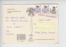 FILIPPINE  1995 - Cartolina Per Italia - Fauna - Pesci - Bandiera - Filippine
