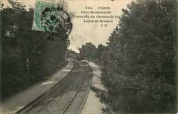 PARIS  METRO  Parc Montsouris Tranchée Du Chemin De Fer Ligne De Sceaux - Stations, Underground