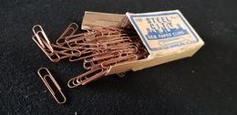 Bureau Trombone Cuivre Boite D'origine 100 STEEL CITY N°1 GEM PAPER CLIPS MFD BYL&M SUFRIN PGH PA USA Illustration Usine - Autres
