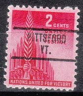 USA Precancel Vorausentwertung Preo, Locals Vermont, Pittsford 734 - Vereinigte Staaten