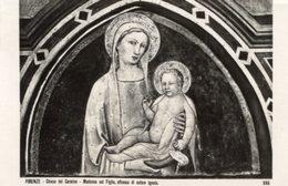 Firenze - Cartolina MADONNA COL FIGLIO, Affresco Di Autore Ignoto (986) (inviata A Elena Mazzari, Pittrice, 1938) - P69 - Pittura & Quadri