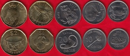 "Fiji Set Of 5 Coins: 5 Cents - 2 Dollars 2012 ""Animals"" UNC - Fiji"