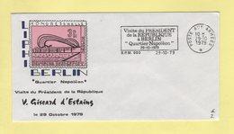 Secap - Poste Aux Armees - 1979 - Visite Du President De La Republique A Berlin Quartier Napoleon - Marcophilie (Lettres)