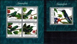 MDB-BK22-366 MINT PF/MNH ¤ UNION ISL. GRENADINES 2013 KOMPL. SET ¤ BIRDS OF THE WORLD OISEAUX BIRDS AVES VOGELS VÖGEL - Hummingbirds