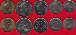 Fiji Set Of 5 Coins: 5 Cents - 1 Dollar 2009-2010 UNC - Fiji