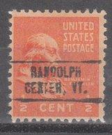 USA Precancel Vorausentwertung Preo, Locals Vermont, Randolph Center 749 - Vereinigte Staaten