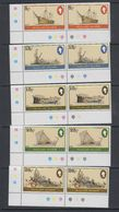 Falkland Islands 1982 Shipwrecks 5v (pair, Corner) ** Mnh (40559) - Falklandeilanden
