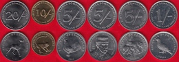 Somaliland Set Of 6 Coins: 1 - 20 Shillings 1994-2005 UNC - Coins