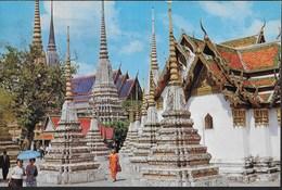 THAILAND - BANGKOK , WAT PHO - FORMATO PICCOLO - VIAGGIATA 1978 FRANCOBOLLO ASPORTATO - Tailandia