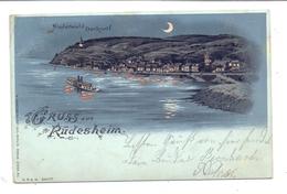 6220 RÜDESHEIM, Niederwald-Denkmal, Lithographie 1903, Halt Gegen Das Licht / Hold To Light - Ruedesheim A. Rh.