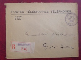 PTT Gondecourt - Marcophilie (Lettres)