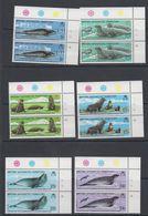British Antarctic Territory (BAT) 1983 Antarctic Seal Conservation 6v (pair, Corner) ** Mnh (40560C) - Ongebruikt