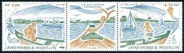 ST-PIERRE ET MIQUELON 1989 - Yv. 509A Tryptique **   Faciale= 2,42 EUR - L'île Aux Marins  ..Réf.SPM11363 - Neufs