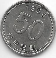 *korea South 50 Won 1995  Km 34  Xf+ - Corée Du Sud