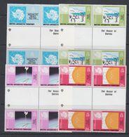 "British Antarctic Territory (BAT) 1981 Antarctic Treaty 4v 2xgutter ""House Of Questa""  ** Mnh (40561) - Brits Antarctisch Territorium  (BAT)"