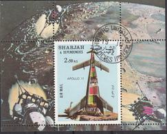 Sharjah 1972 Bf. 110A Apollo 11 Perf. CTO - Asia