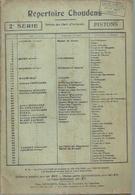 REPERTOIRE CHOUDENS 2ème SERIE - PISTONS ( GOUNOD / BIZET / CHOUDENS / GODARD / MESSAGER... ) - Non Classés