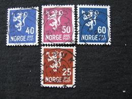 Norwegen  225 , 228 - 230   O - Gebraucht