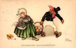 Ostern, Hahn Und Henne, Sign. Erwin Granner, 30er Jahre - Pâques