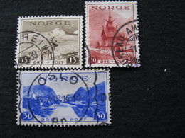Norwegen  195 - 197  O - Gebraucht