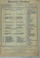 REPERTOIRE CHOUDENS 3ème SERIE - CORS ( GOUNOD / BIZET / CHOUDENS / VERDI / OFFENBACH... ) - Non Classés