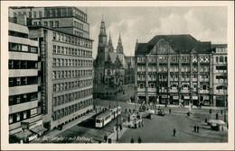 Postcard Breslau Wrocław Blücherplatz Und Rathaus 1942 - Schlesien