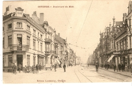 Cpa Ostende Boulevard Du Midi - Belgique