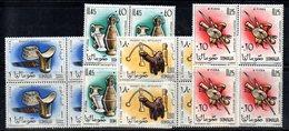 0/1500 - SOMALIA 1961 , Yvert Serie  N. 17/8 + Posta Aerea Nuova  *** : QUARTINE - Somalia (1960-...)