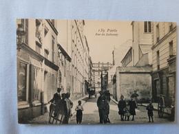 CPA PARIS Rue Du Dahomey Photo GONDRY Animée Commerces - Francia