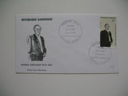 FDC  Gabon   1992   25 ème Anniversaire De La Mort Du Docteur Adenauer - Gabon