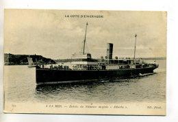 MARINE 043 La Cote D'Emeraude Entrée Du Steamer Anglais ALBERTA   écrite Vers 1914 - Boten