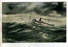 MARINE 072 Le Paquebot FORMOSA Par Grosse Mer Longuement Ecrite  Vers 1910 - Paquebots