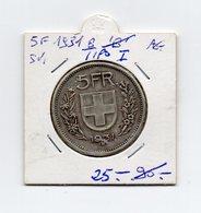 Svizzera - 1931 - 5 Franchi - I° Tipo - Argento - Vedi Foto - (MW1488) - Suiza