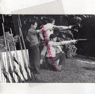 03- MONTLUCON- LES ARQUEBUSIERS BOURBONNAIS - ARQUEBUSE FUSIL PISTOLET- RARE PHOTO ORIGINALE - Sport